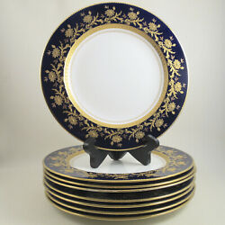 Brownfield Sons Davis Collamore Bone China 10 Dinner Plate Set Gold Encrusted