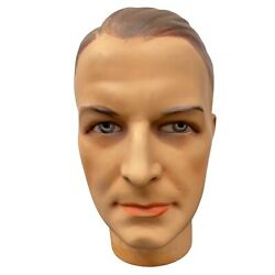Vintage Collectible Glass Eyed Mannequin Head Bust Figurine Store Display