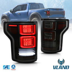 Vland Led Smoked Tail Lights For Ford F150 F-150 2015-2020 Assembly Oe Replace