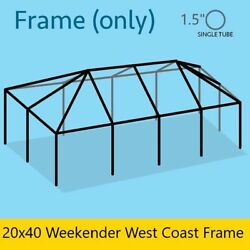 Replacement 20x40 Tent Frame Galvanized Steel For Weekender West Coast Tents