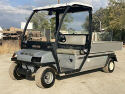 Used 2013 Club Car Industrial Flatbed Electric Utility Cart Carryall 6
