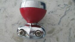 Vintage Hollywood Suicide Spinner Knob Steering Red White