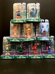 Vintage Nib 90and039s Sesame Street Collectible Figurines 9 Total