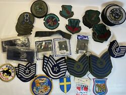 Usaf Air Force Patches 91 Pcs. Silver Lobos/tsgt/35th Tactical Fighter Wing More