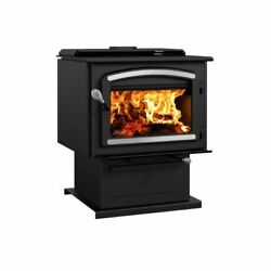 Drolet - Escape 2100 Wood Stove-brushed Nickel Trims Optional Epa 2020 Approved