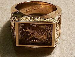 Mit Class Ring 2017 Brass Rat 10k Solidyellow Gold Immaculate Collectible