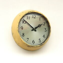 Vintage English 1950s Gents Midcentury Wall Clock Industrial Factory