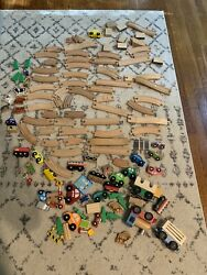 Melissa And Doug Wood Train Cars Toy Lot 116 Pieces Huge