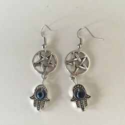 Upside Down Silver Pentagram Attached To Hamms Handfree Postage