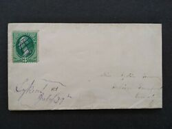 Kentucky Lykins 1870s 3c Banknote Cover, Ms Lower Left, Dpo Magoffin Co