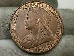 Unc Red/brown 1898 One Penny Great Britain. 62
