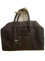 Latico Cafe Brown 100 Leather Travel Business Weekend Bag Heritage Cabin Duffle