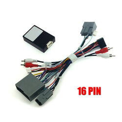 Car 16pin Stereo Radio Audio Wiring Harness W/canbus For Ford Lincoln Chevrolet