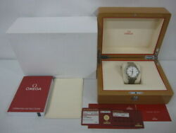 Omega De Ville Co-axial 431.10.41.21.02.001 Automatic White Dial Stainless Mens