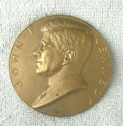 1961 John F Kennedy, Bronze Inaugurated Medallion By Gilroy Roberts