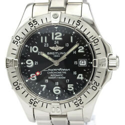 Polished Breitling Super Ocean Steel Automatic Mens Watch A17360 Bf534096