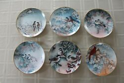 Franklin Mint Collector Plates By John Cheng Set Of 6 Birds Limited Edition Coa