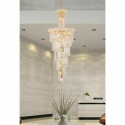 Crystal Chandelier Spiral High Quality Foyer Dining Room Fixtures 22 Light 60