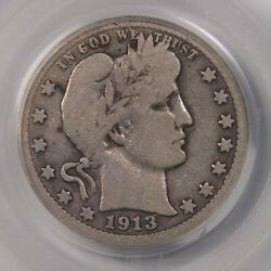 1913-s Barber 25c Pcgs Certified Vg10 San Francisco Mint Us Silver Quarter Coin
