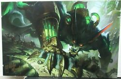 Victor Maury Warwick League Of Legends Hand Signed In Ink Offset Lithograph