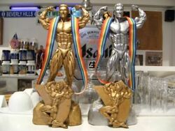 American Championship Gold And Silver Bodyville Trophy And Medal 2 Piece Set Muscle