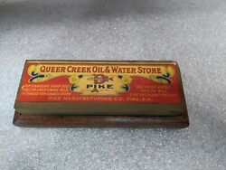 Vintage Pike Queer Creek Oil And Water Stone / Sharpening Stone