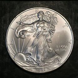 2009 Uncirculated American Silver Eagle Us Mint Issue 1oz Pure Silver I951