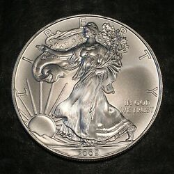 2009 Uncirculated American Silver Eagle Us Mint Issue 1oz Pure Silver I960