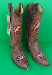 Auburn University Gameday Tall Cowboy Boots Women's Us Size 7.5b New With Tag