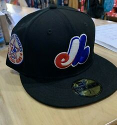New Era 59fifty Fitted Hat Cap Montreal Expos Throwback All Star Game Patch Red