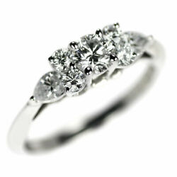 Pt950 Diamond Ring Seven Stone - Auth Selby_japan