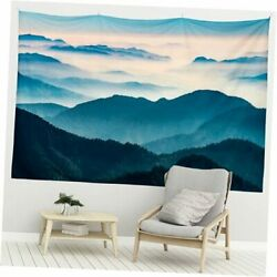 Mountain Tapestry Wall Hanging Tapestry Landscape 59quot;W×51quot;H Misty Mountain