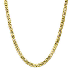 10k Yellow Gold Hollow Miami Cuban Chain Bracelet Or Necklace 10bc156