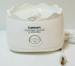 Cuisinart Ice Cream Maker Ice-20 White Replacement Base Ice20ice21 - Tested