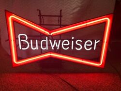 Vintage Budweiser Neon Sign. Works And In Great Condition. Sold As Is.
