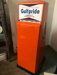 Vintage Gulfpride Oil Can Holder. Beautifully Restored. Sold As Is.