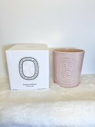 New Without Seal Empty Vessel Diptyque Rose Candle 600 Gram Pink Vase Container
