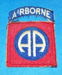 Original Cut-edge 82nd Airborne Division 1-piece Patch And Tab Off Uniform
