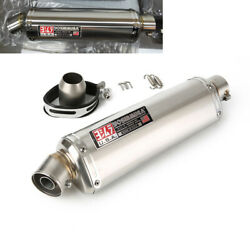 38-51mm Universal Stainless Steel Exhaust Pipe Baffle Silencer For Motorycle Atv