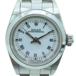 Rolex Oyster Perpetual Watch Stainless Steel White 7342