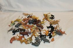 Vintage Plastic Jungle Wild Animals Lot Made In Hong Kong Painted