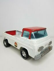 Nylint White And Red Racing Pressed Steel Pickup Truck 1960s Vintage