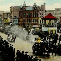 1908 S H Knox And Co General Alarm Lima Ohio Horse Drawn Fire Engine Usa Downtown