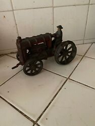 Vintage Cast Iron Fordson Farm Tractor Toy