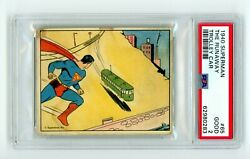 1940 Gum R145 Superman 65 Psa 2 The Runaway Trolley Car High Numbered Sp Rc