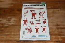 NFL Family Decals TAMPA BAY BUCCANEERS Removable Repositionable Reusable 12 Pcs