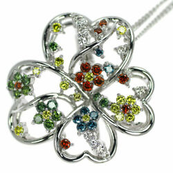 K18wg/k14wg Diamond Pendant Necklace And Brooch D1.02ct - Auth Selby_japan