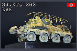 Pro-built 1/35 Sd.263 German Ww2 Recon Armored Car Dak Finished Model Preorder