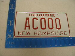 1979 79 New Hampshire Nh License Plate Transition Tag Sample Ac000 Kc