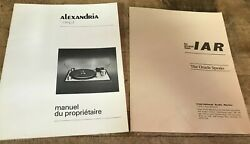 Vintage Oracle Alexandria Turntable Record Player Owners Manual